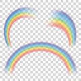 Sistema de arco iris transparentes Ilustración del vector