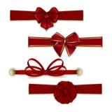 Sistema de arcos coloreados seda elegante Foto de archivo libre de regalías
