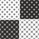 Sistema de Atom Symbol o de Atom Sign Freehand Seamless Pattern Fotografía de archivo libre de regalías