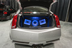 sistema de audio para el automóvil Foto de archivo