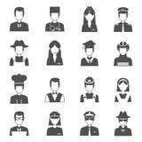 Sistema de Avatar de la profesión stock de ilustración