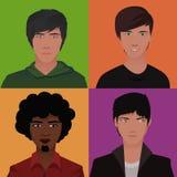 Avatares de los hombres stock de ilustración