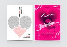 Sistema de aviadores del día del ` s de la tarjeta del día de San Valentín Fotografía de archivo