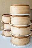 Sistema de bambú del vapor fotografía de archivo libre de regalías