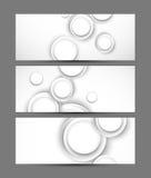 Sistema de banderas ilustración del vector