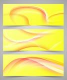 Sistema de banderas abstractas coloridas con las líneas imágenes de archivo libres de regalías