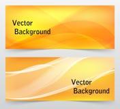 Sistema de banderas abstractas coloridas con las líneas Vector Foto de archivo libre de regalías