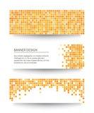 Sistema de banderas amarillas del pixel. Imagen de archivo