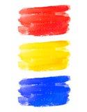 Sistema de banderas coloridas de la acuarela Foto de archivo libre de regalías