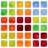 Sistema de banderas coloridas del watercolour. Fotos de archivo libres de regalías