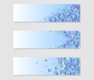 Sistema de banderas con las burbujas coloreadas Fotos de archivo libres de regalías
