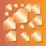 Sistema de banderas con las sombras en un backgroun anaranjado Fotos de archivo