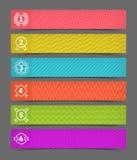 Sistema de banderas con los emblemas del número Imágenes de archivo libres de regalías
