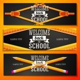 Sistema de banderas de escuela con el lugar para su texto y Fotos de archivo libres de regalías