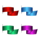 Sistema de banderas de la cinta Imágenes de archivo libres de regalías