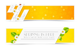 Sistema de banderas de la primavera Imagen de archivo libre de regalías