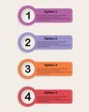 Sistema de banderas de las opciones del infographics del colourfull Fotografía de archivo
