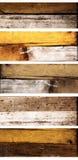 Sistema de banderas de madera con vieja textura de madera Imágenes de archivo libres de regalías