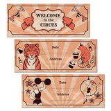 Sistema de banderas del anuncio de circo Fotografía de archivo libre de regalías