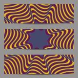 Sistema de banderas del diseño moderno, plantilla de los jefes con 3d el volumen abstracto rayado, fondo diagonal ondulado del mo Fotografía de archivo libre de regalías