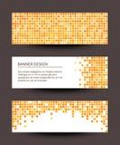 Sistema de banderas del pixel en fondo oscuro. Fotografía de archivo