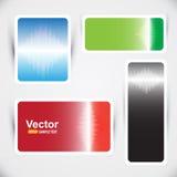 Sistema de banderas del sonido del vector Imágenes de archivo libres de regalías