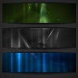 Sistema de banderas elegantes abstractas. Imágenes de archivo libres de regalías