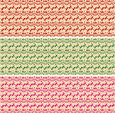 Sistema de banderas horizontales del modelo oriental de la alheña stock de ilustración