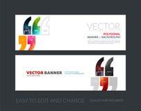 Sistema de banderas horizontales modernas del sitio web con citas, COM del vector