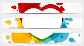 Sistema de 3 banderas llenas coloridas Fotografía de archivo libre de regalías