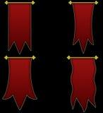 Sistema de banderas medievales Foto de archivo libre de regalías