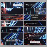 Sistema de banderas modernas El extracto alinea el fondo, ejemplo del vector del diseño del movimiento Foto de archivo libre de regalías