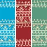 Sistema de banderas orientales de la vertical del modelo de Paisley de la alheña Foto de archivo libre de regalías