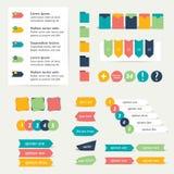 Sistema de banderas planas de la etiqueta engomada libre illustration