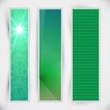 Sistema de banderas verdes Imagen de archivo libre de regalías