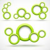 Sistema de banderas verdes del círculo Libre Illustration