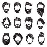 Sistema de barbas y de pelos Imagenes de archivo