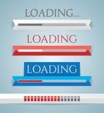 Sistema de barras de cargamento del progreso Imagen de archivo libre de regalías