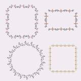 Sistema de bastidores con el elemento floral Fotos de archivo libres de regalías