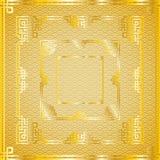 Sistema de bastidores cuadrados de oro chinos orientales en el modelo de oro Imágenes de archivo libres de regalías