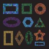 Sistema de bastidores de cerámica del mosaico colorido Imágenes de archivo libres de regalías