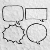 Sistema de bastidores de las burbujas del discurso del plasticine Imágenes de archivo libres de regalías
