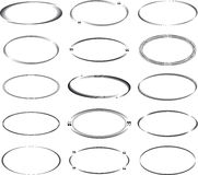 Sistema de bastidores ovales Imagenes de archivo