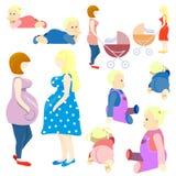 Sistema de bebés y de padres Fotografía de archivo