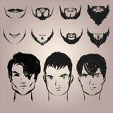 Sistema de bigote y de barbas Imagen de archivo libre de regalías