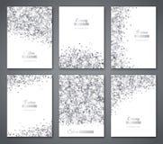 Sistema de blanco y de banderas de la plata Imagenes de archivo