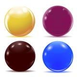 Sistema de bolas brillantes multicoloras Ilustración Imagen de archivo