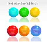 Sistema de bolas coloridas Fotos de archivo libres de regalías