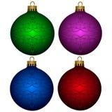 Sistema de bolas de la Navidad Foto de archivo libre de regalías
