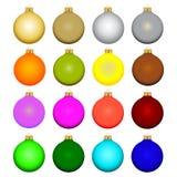 Sistema de bolas de la Navidad Fotos de archivo libres de regalías
